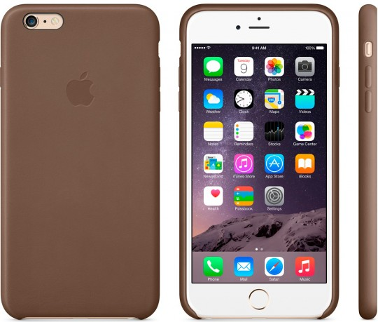 Apple iPhone 6 Plus Leather Case - Olive Brown MGQR2